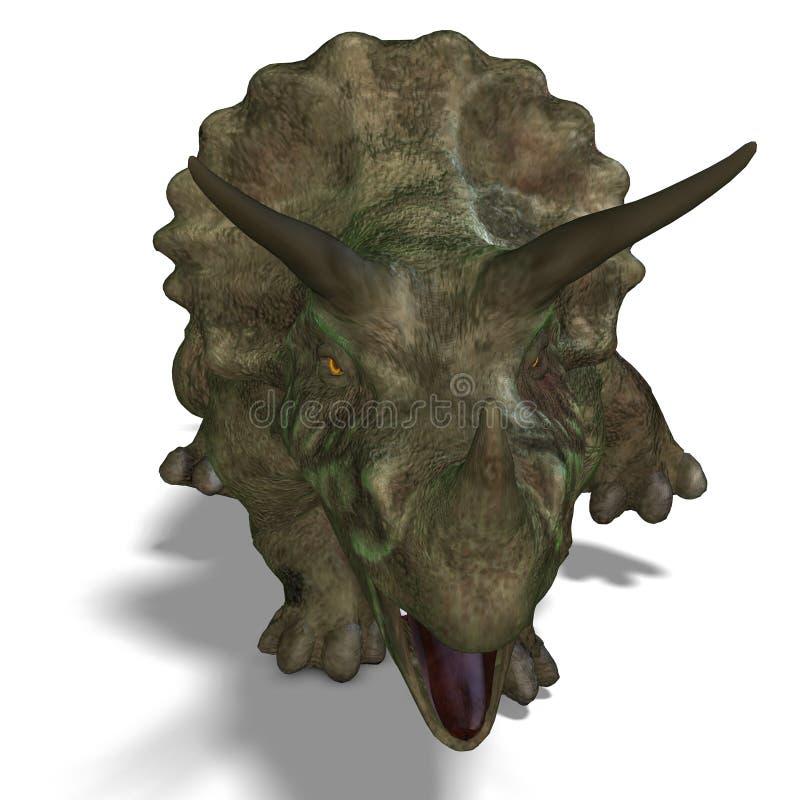 Triceratops do dinossauro ilustração royalty free