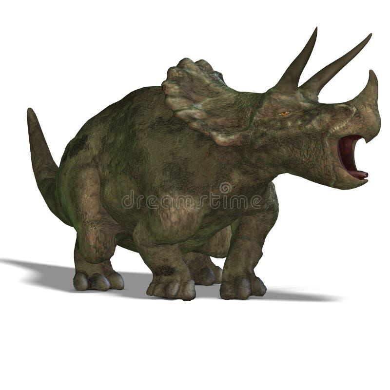 Triceratops do dinossauro ilustração do vetor