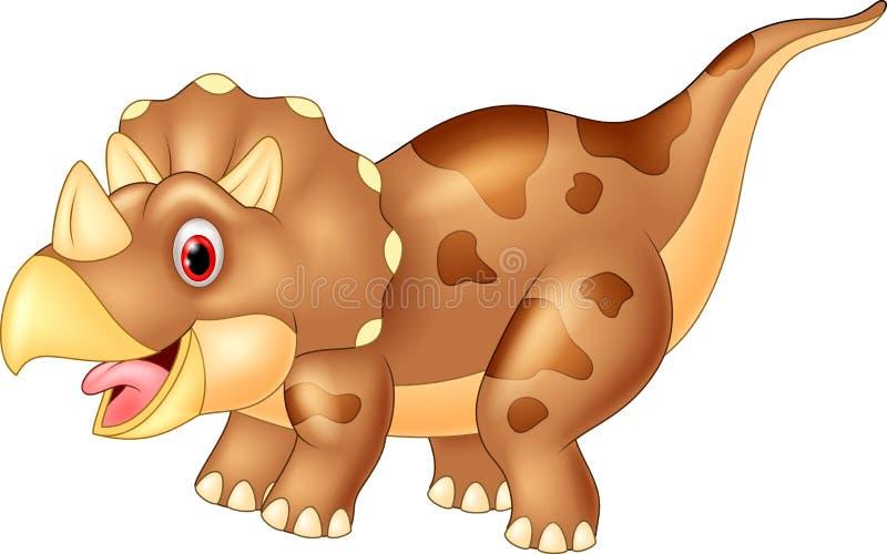 Triceratops do dinossauro, ilustração ilustração royalty free