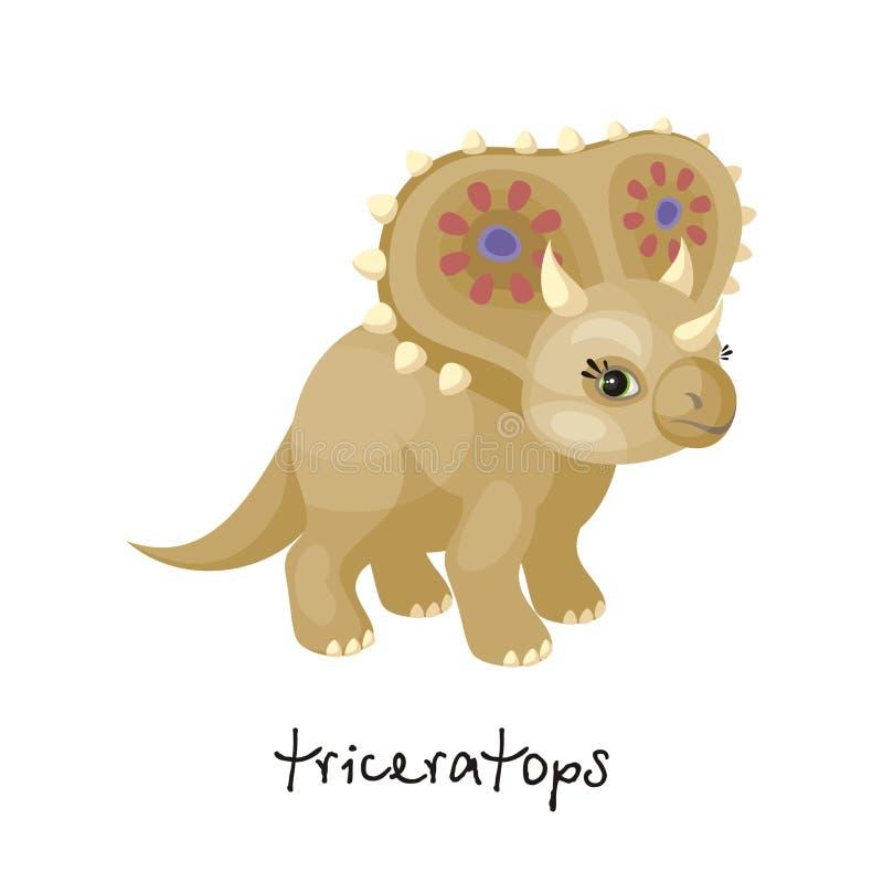 Triceratops en estilo de la historieta libre illustration