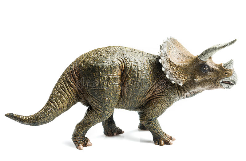 Triceratops. Figurine on white background royalty free stock photo