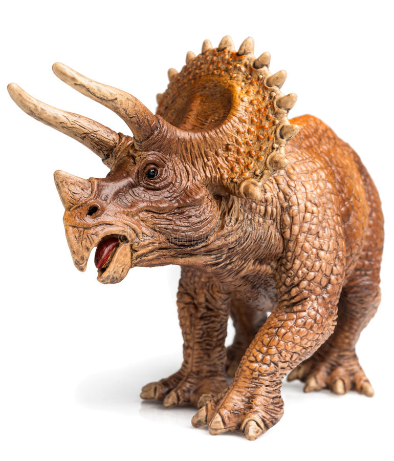 Triceratops. Figurine on white background royalty free stock images