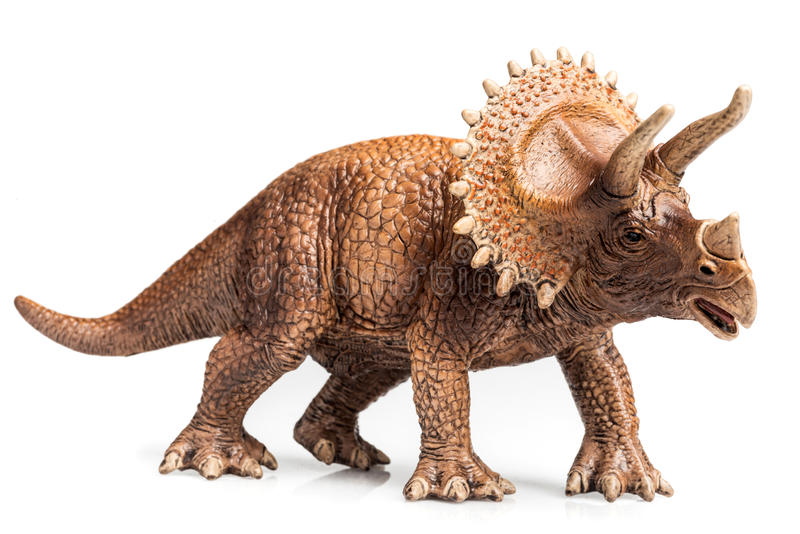 Triceratops. Figurine on white background stock image