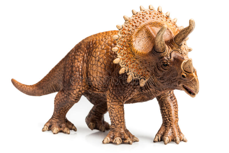 Triceratops. Figurine on white background stock photography