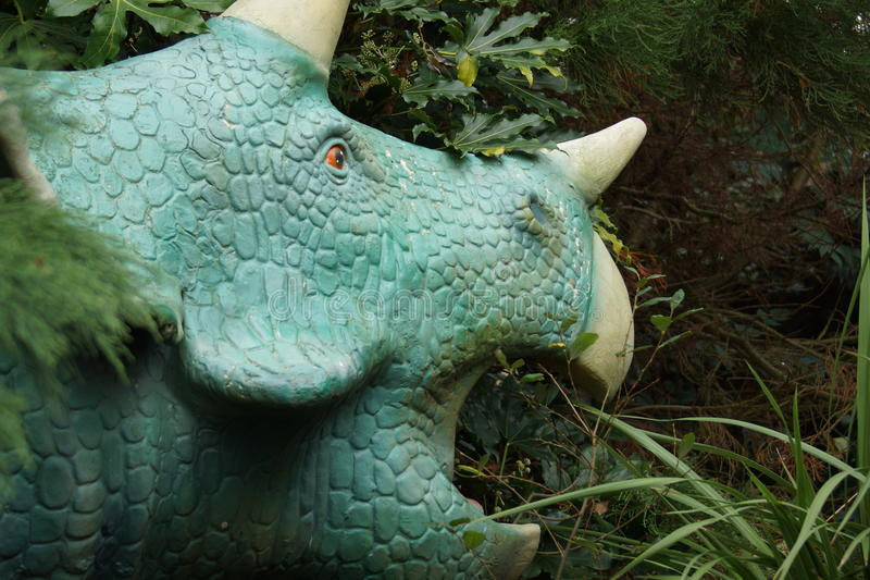 Triceratops. Large horned armoured extinct prehistoric dinosaur stock photo