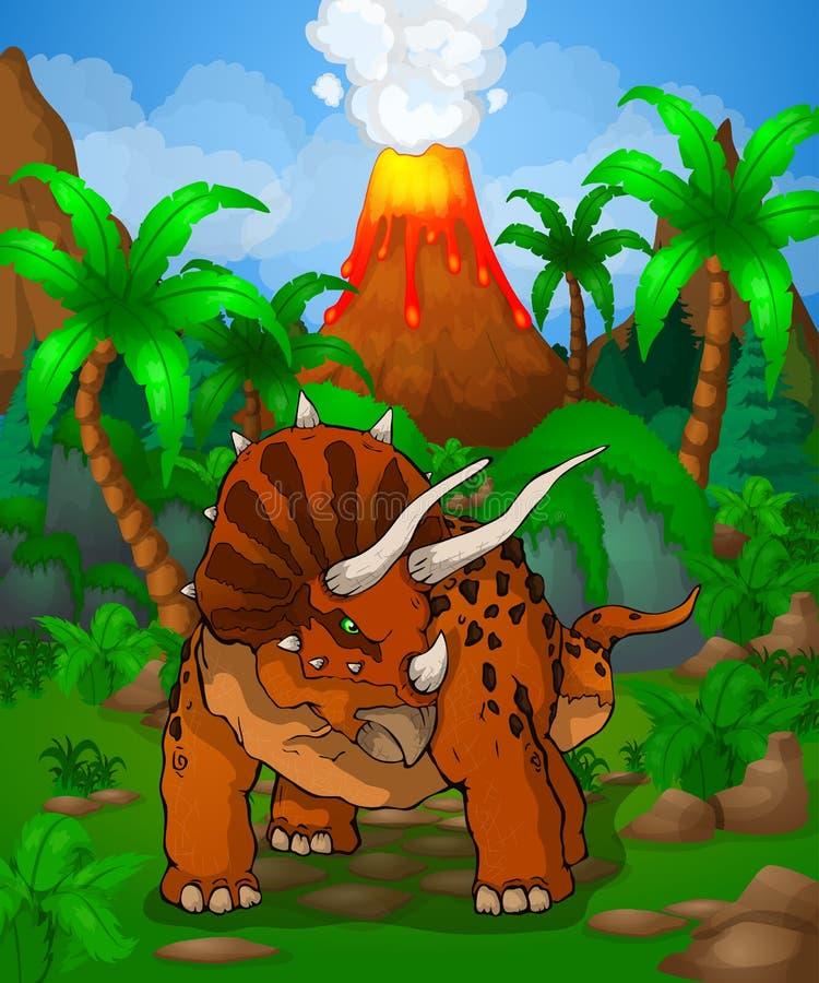 Triceratops lindo de la historieta libre illustration