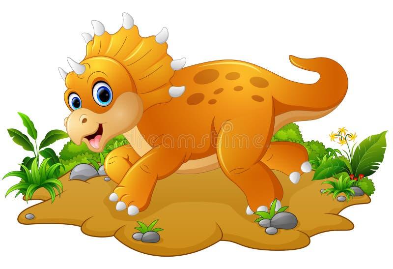 Triceratops lindo y joven de la historieta libre illustration