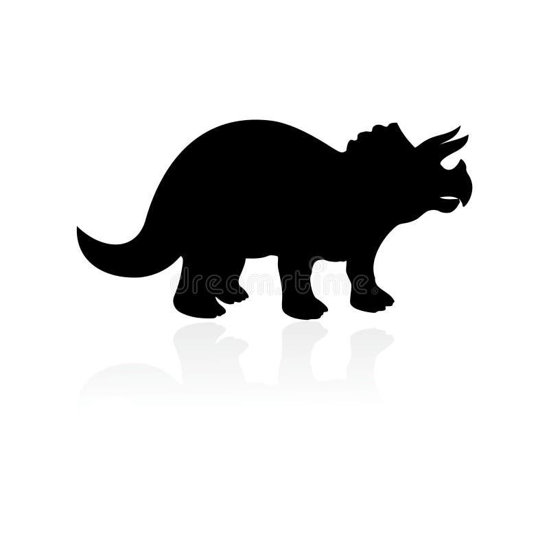Triceratopssymbol vektor illustrationer