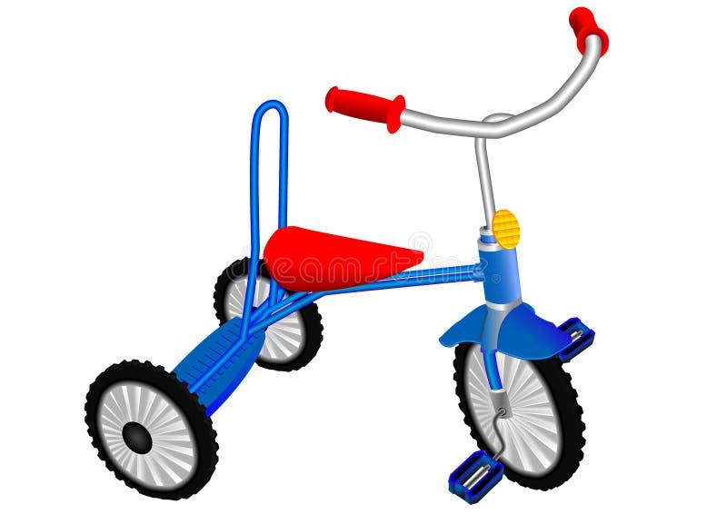 Triciclo de crianças ilustração stock