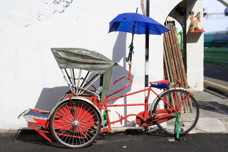 Triciclo do curso imagem de stock
