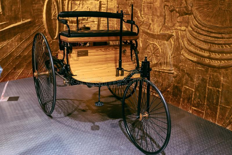 Triciclo do motor do vintage foto de stock