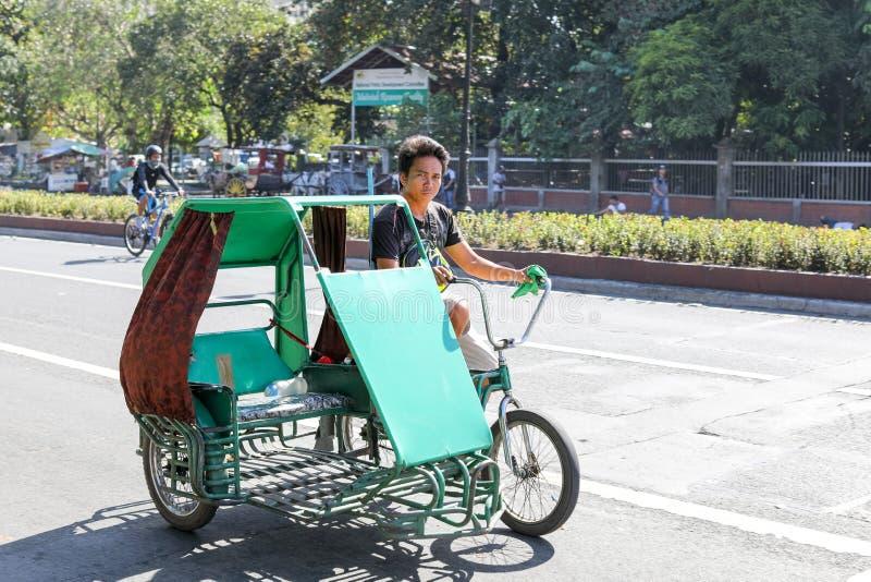 Triciclo en Filipinas imagen de archivo