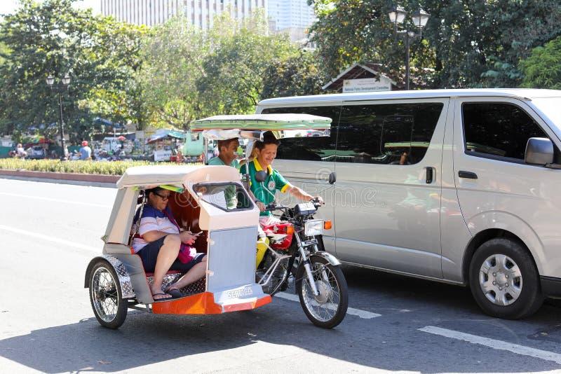 Triciclo en Filipinas fotografía de archivo