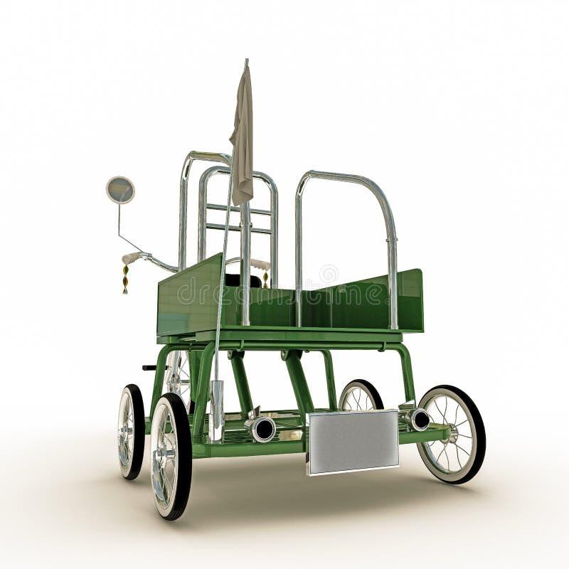 Download Triciclo verde stock de ilustración. Ilustración de niñez - 41901947