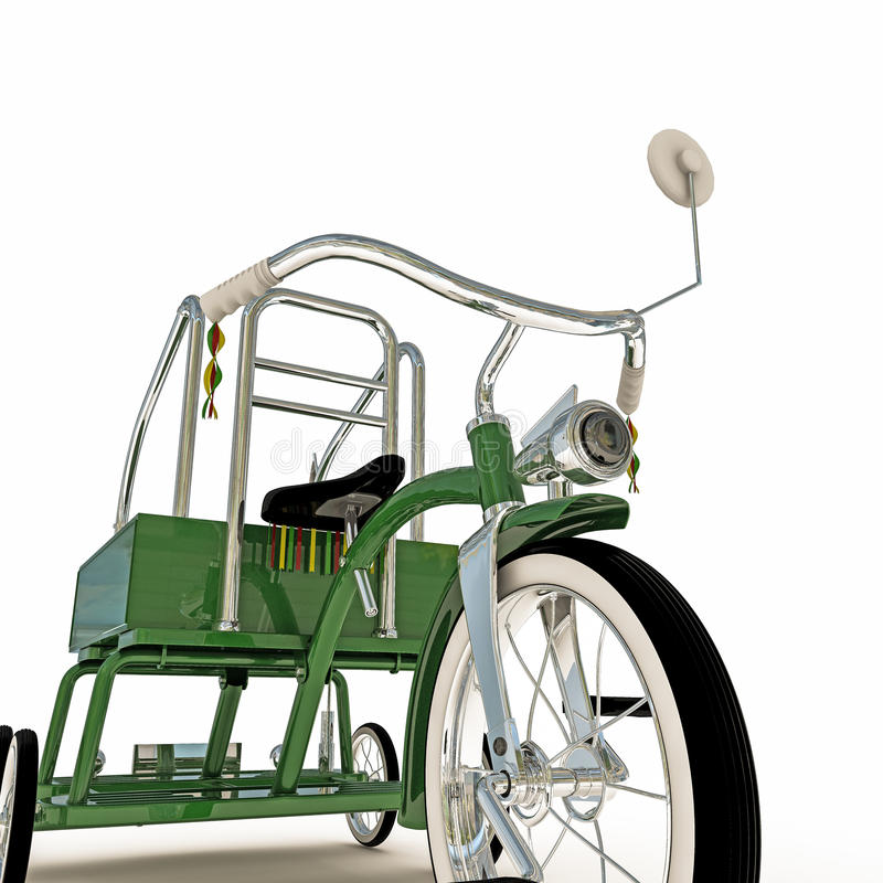 Download Triciclo verde stock de ilustración. Ilustración de blanco - 41902126