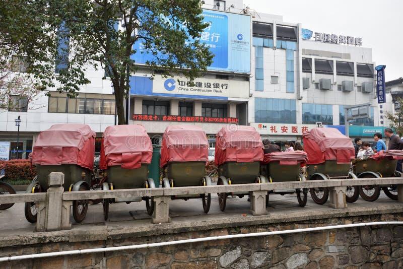 Triciclos del carrito, China fotografía de archivo