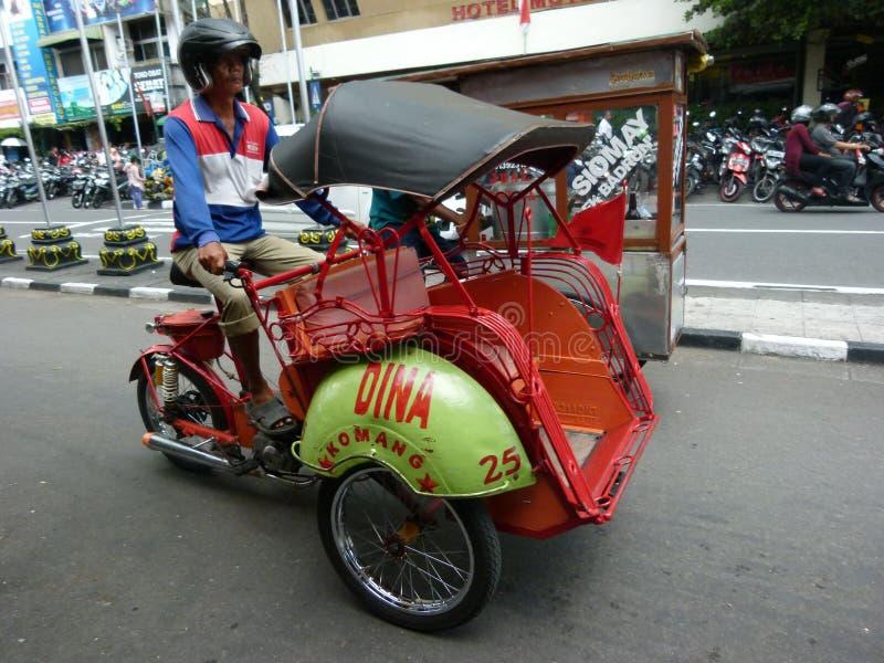 Triciclos motorizados foto de archivo