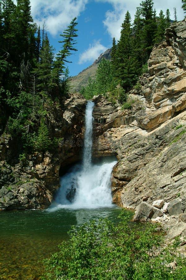 Trick Falls Glacier National Park royalty free stock photography