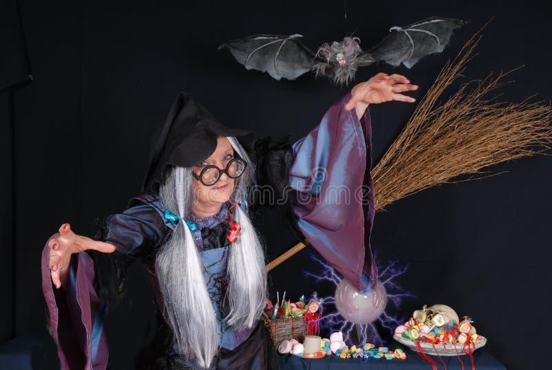 Trick oder Festlichkeit, Halloween stockbild