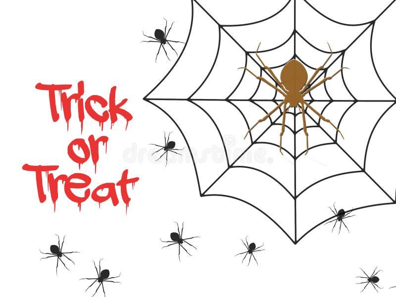 Trick or treat. Halloween poster vector illustration