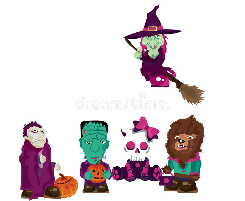 Download Trick Or Treat stock vector. Image of scarecrow, dracula - 3175133