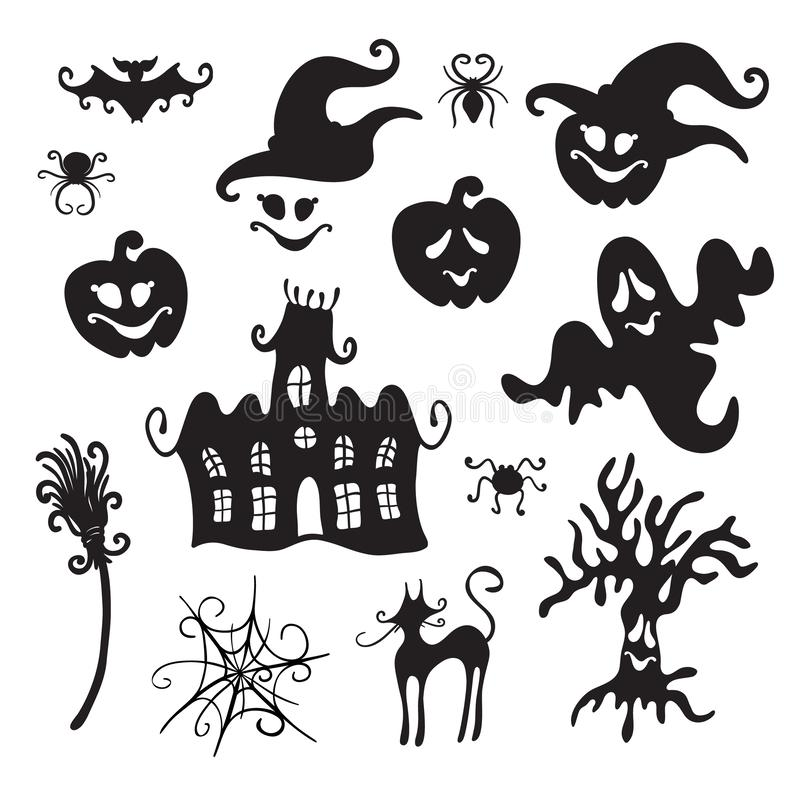 Trick or Treat. Design elements collection. royalty free illustration