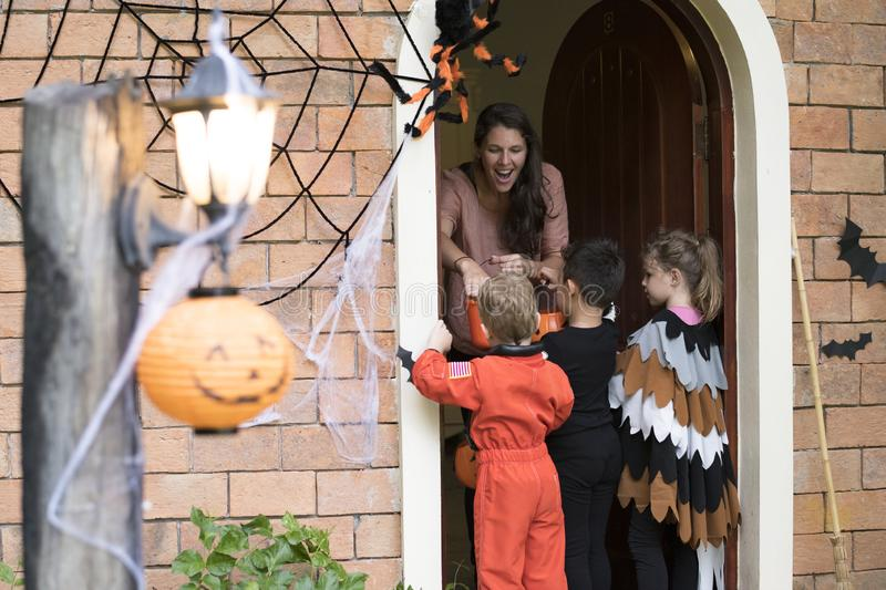 Trick or treat on a halloween royalty free stock image