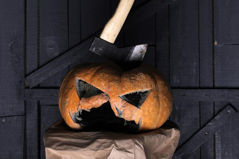 Trick or treat. happy halloween. Come as you aren t. traditional halloween asking sweets - trick or treat. all saints. Day tradition and symbol of pumpkin. Got stock photography