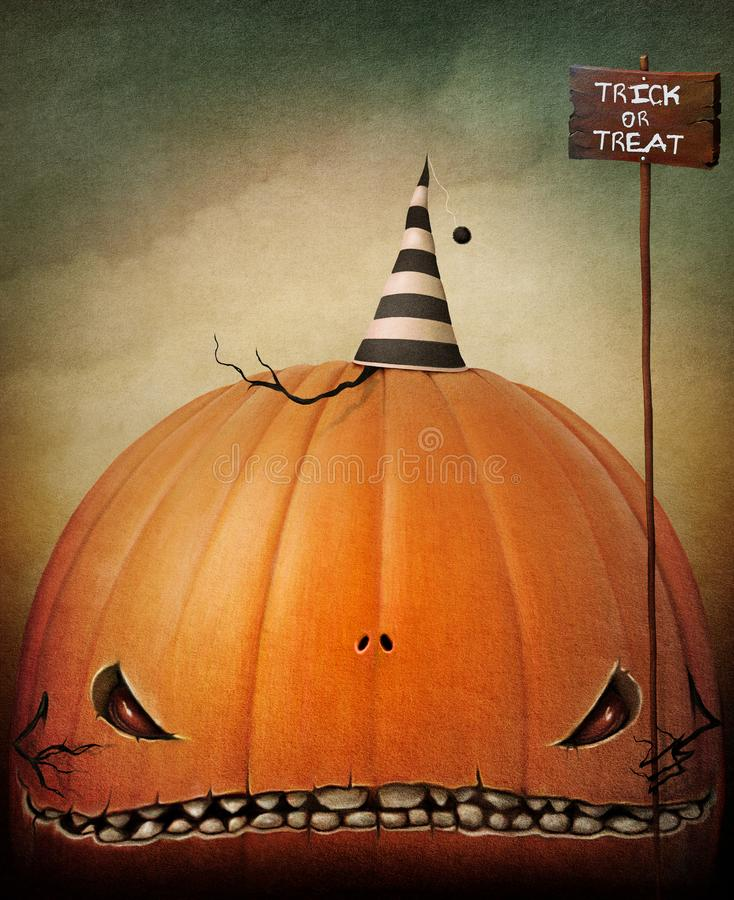 Trick or treat stock illustration