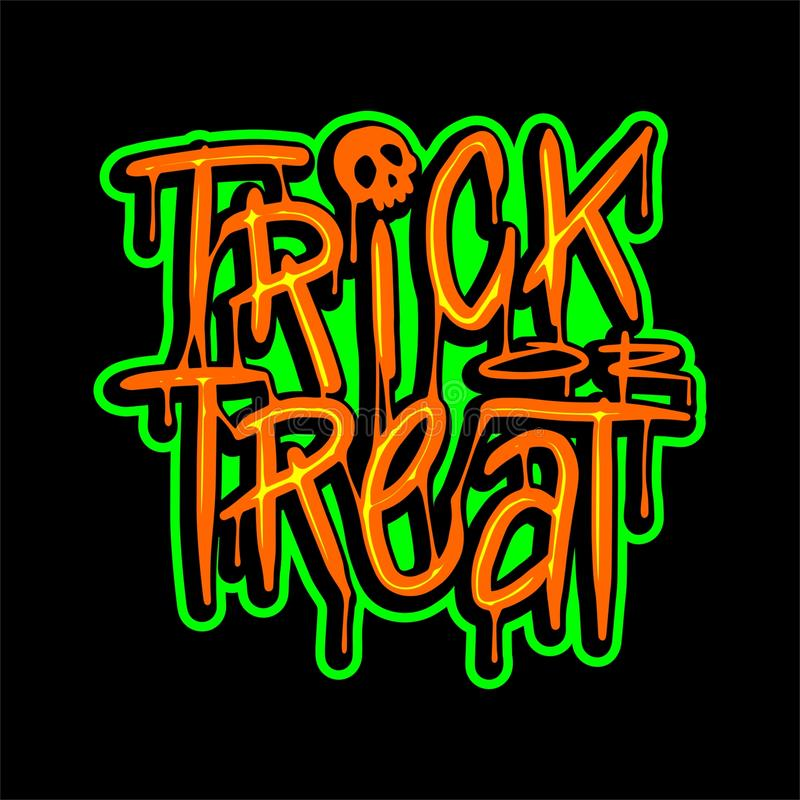 Trick or Treat Lettering Vector Design royalty free stock photo