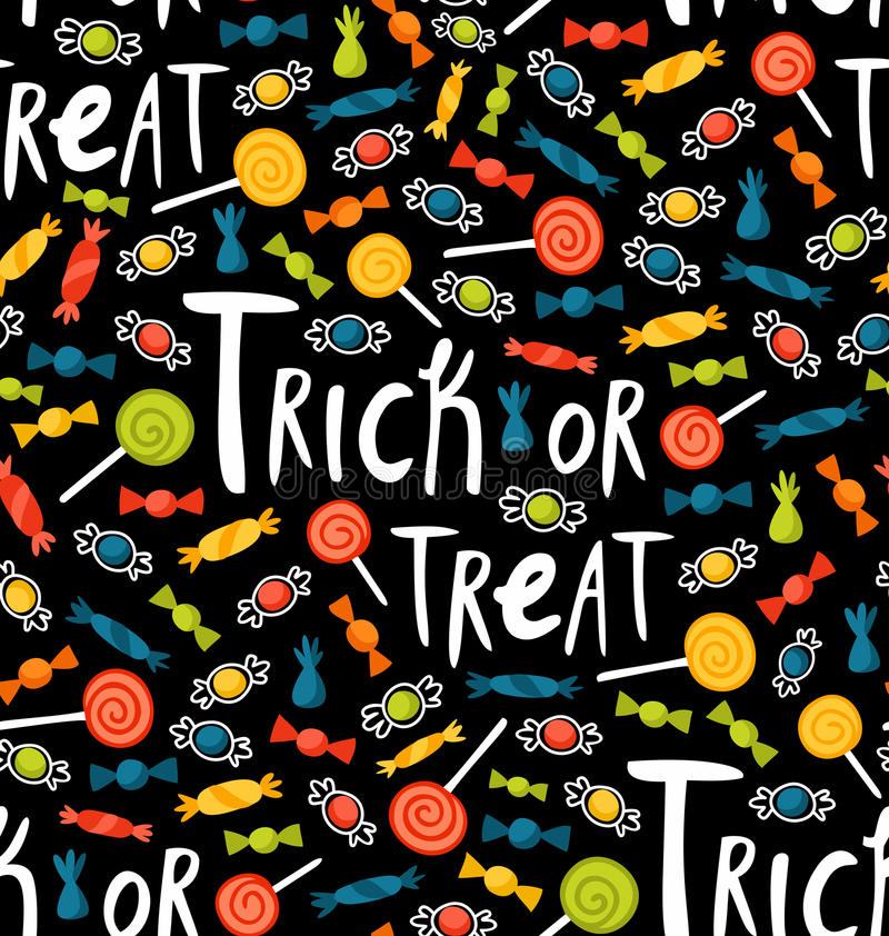 Download Trick-or-treat pattern stock vector. Image of cartoon - 27303539