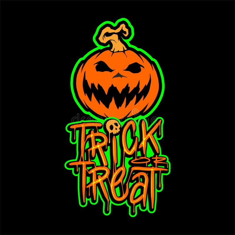 Trick or Treat Pumpkin Vector Design royalty free stock photography