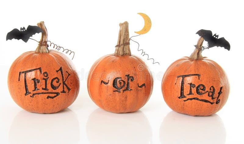 Trick Or Treat Pumpkins Stock Photo