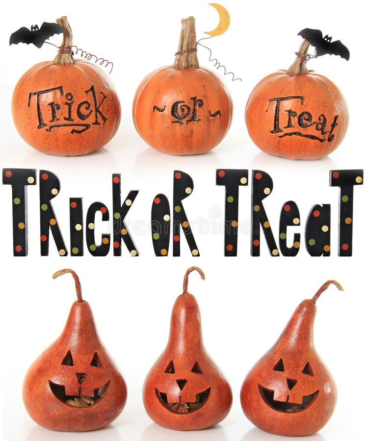 Download Trick or treat pumpkins stock image. Image of pear, october - 26914569