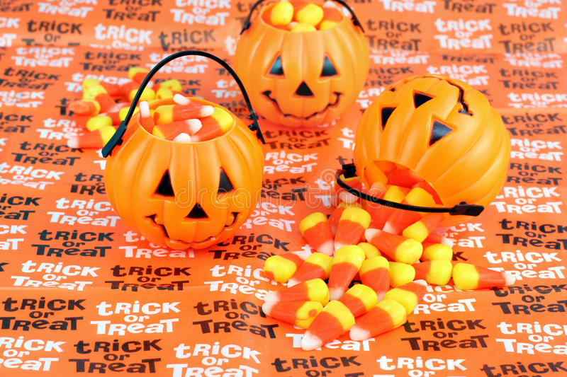 Download Trick Or Treat Pumpkins With Candy Stock Photo - Image: 11376268