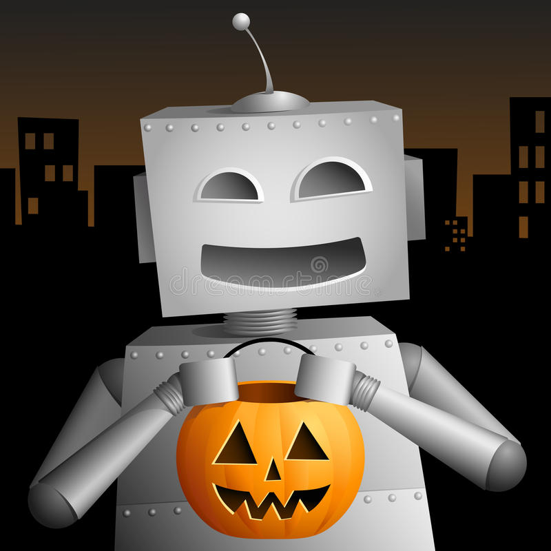 Trick Or Treat Robot Stock Images