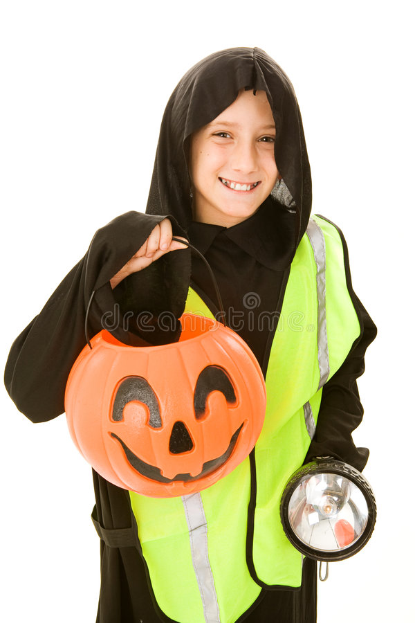 Trick Or Treating Safely royalty free stock images