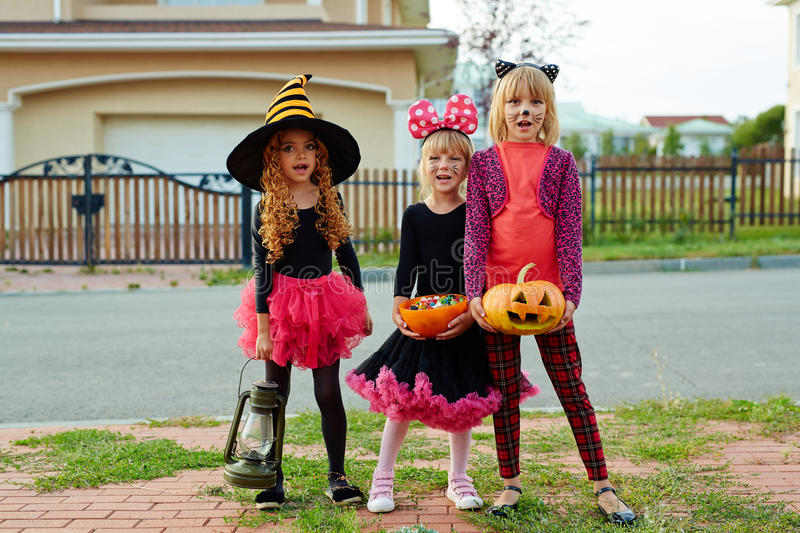Trick-or-treats royalty free stock photography