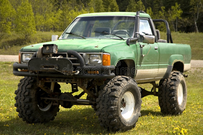 Tricked out 4x4 stock image
