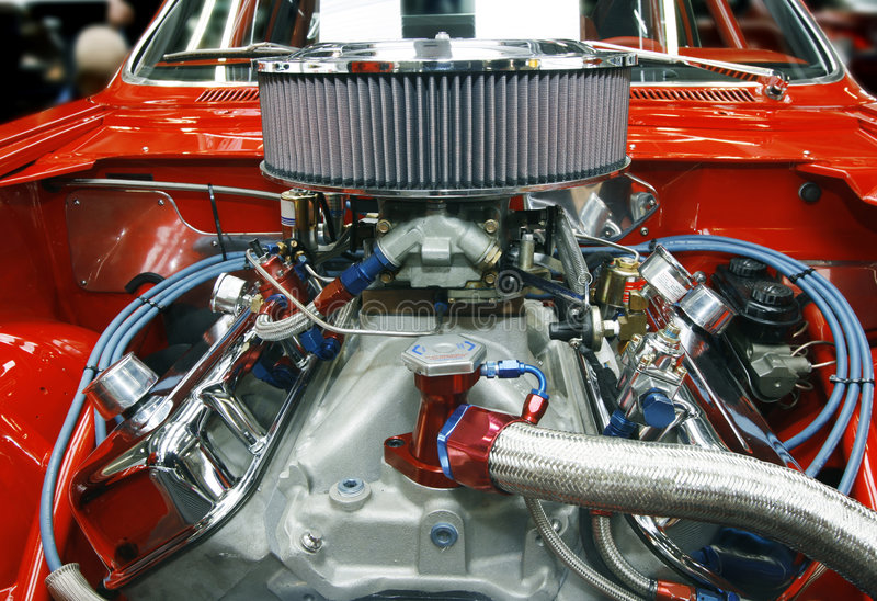 Tricked Out Car Engine Stock Photography