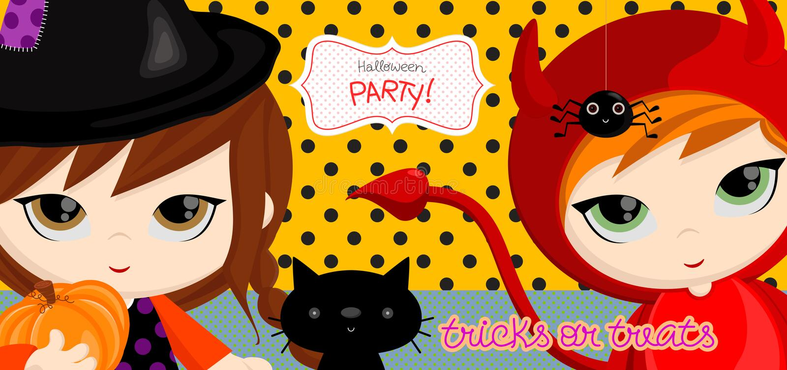 Tricks_witch royalty free illustration