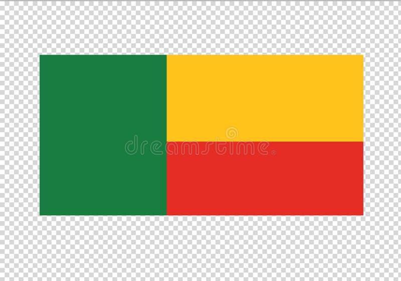 Triclor del emblema del país del emblema de la bandera nacional de Benin libre illustration