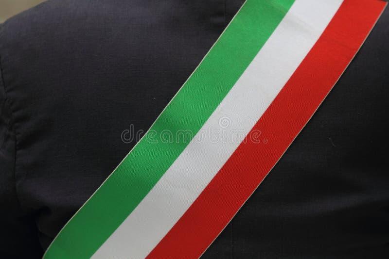 tricolor диапазон итальянского мэра стоковая фотография