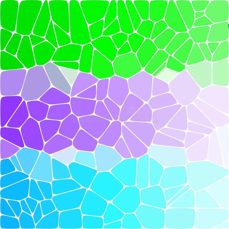 Tricolor яркая красочная предпосылка Покрашенные камешки зеленый, голубой, пурпурный - Vektorgrafik иллюстрация вектора