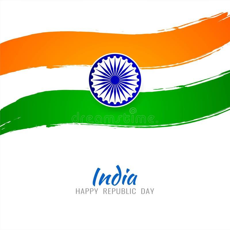 Tricolor bakgrund f?r abstrakt indiskt flaggatema royaltyfri illustrationer