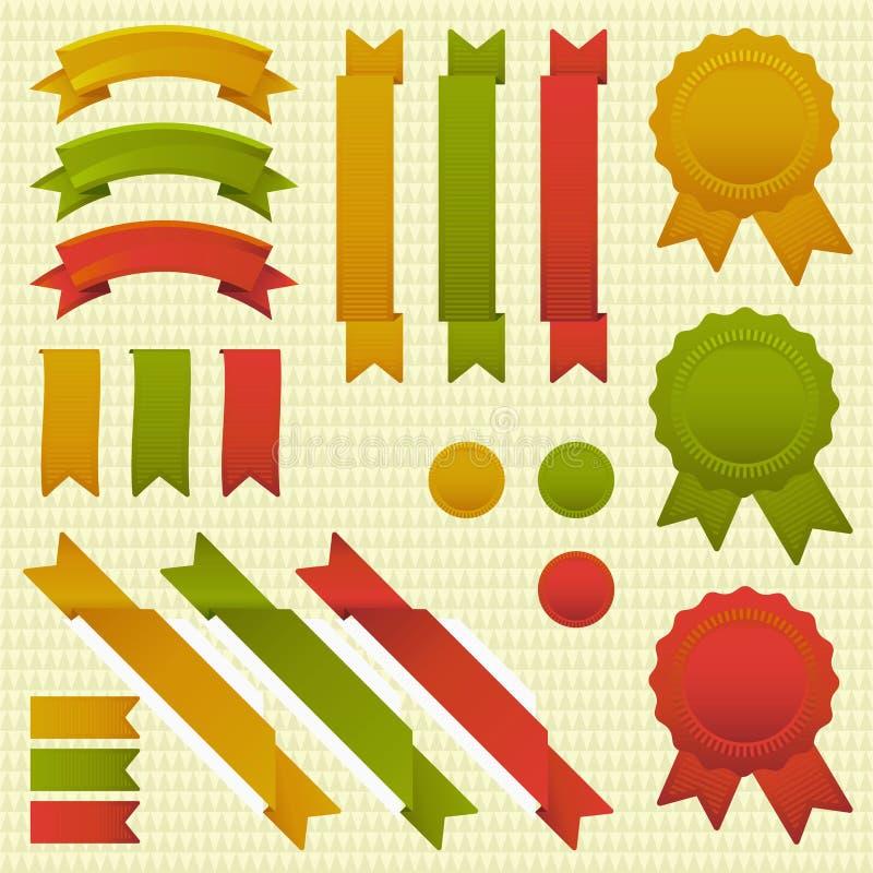 Tricolor band stock illustrationer