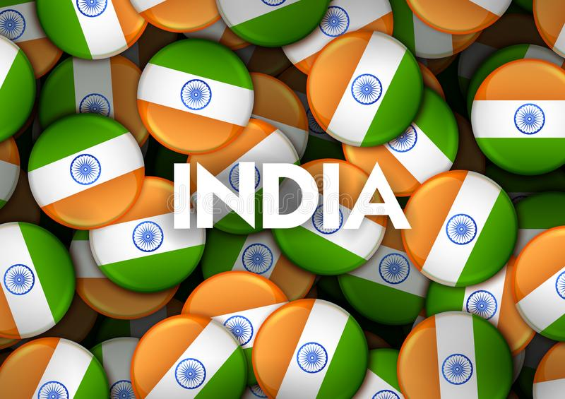 Tricolor banner with Indian flag for 26th January Happy Republic Day of India vector illustration