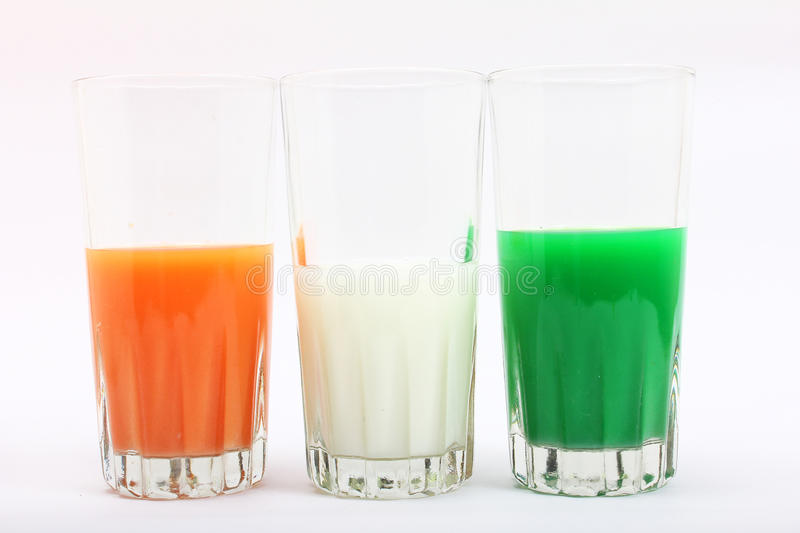 Tricolor In Glass Royalty Free Stock Photos