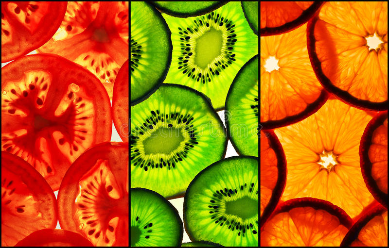 Download Tricolor slices stock image. Image of delicious, slices - 16151963