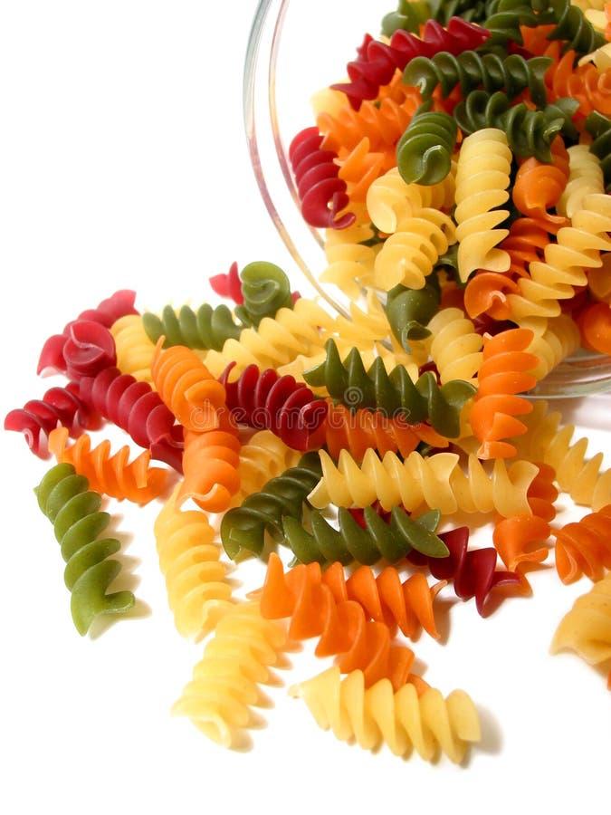 tricolor white för pasta arkivbilder